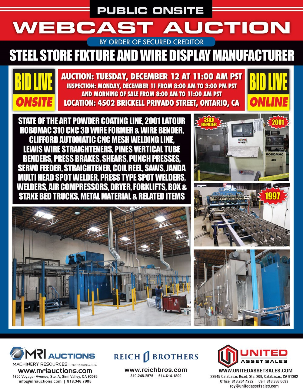 Steel Store Fixture & Wire Display Manufacturer – MRI Auctions